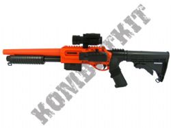 M47D2 Airsoft BB Tactical Shot Gun In Black and Orange